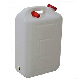 20L Plastic Water Jerry Can White