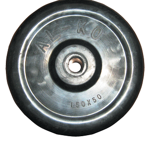 "Alko 6"" Solid Rubber Wheel Only"
