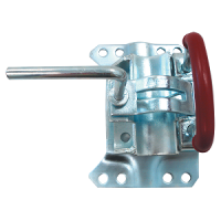 Adjustable swivel jockey wheel bracket